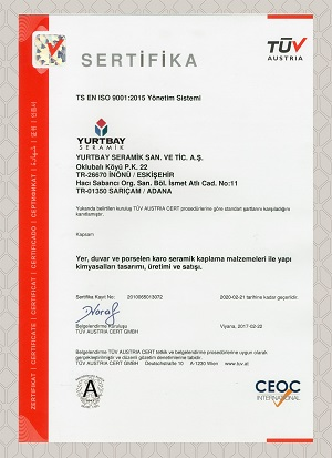 ISO 9001 2015 KYS (TR)